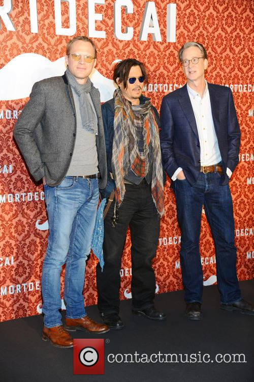 Paul Bettany, Johnny Depp and David Koepp 1