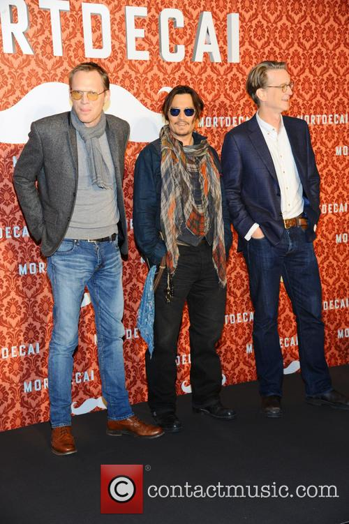 Paul Bettany, Johnny Depp and David Koepp 5