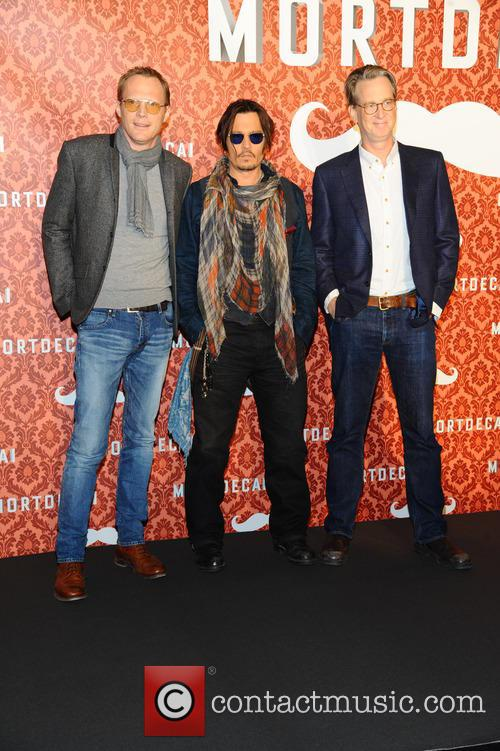 Paul Bettany, Johnny Depp and David Koepp 6