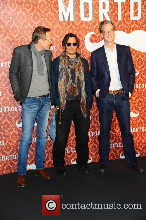 Paul Bettany, Johnny Depp and David Koepp 7