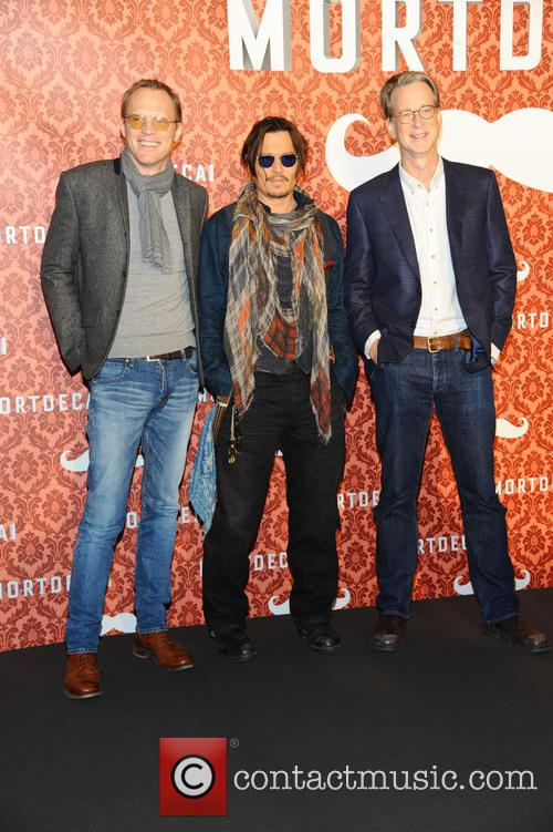 Paul Bettany, Johnny Depp and David Koepp 8