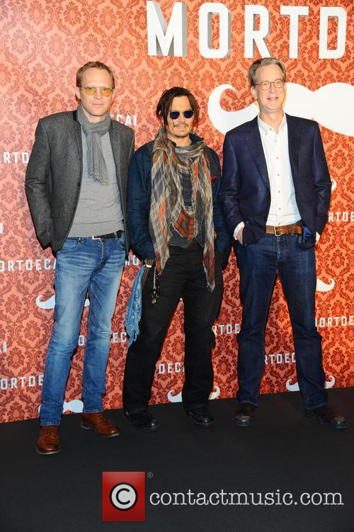Paul Bettany, Johnny Depp and David Koepp 10
