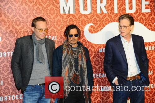 Paul Bettany, Johnny Depp and David Koepp 11