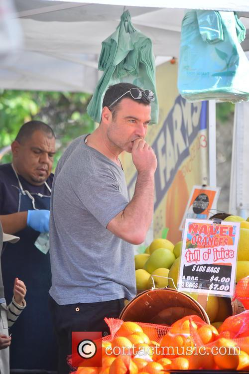 Liev Schreiber takes his boys to the market