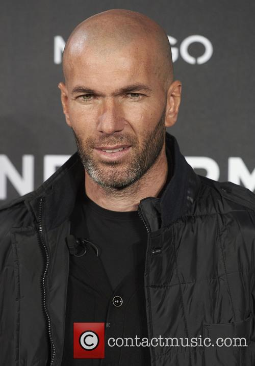 Zinedine Zidane is unveiled as the new face...