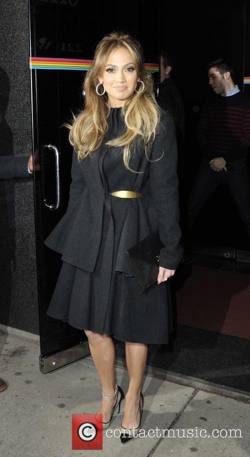 Jennifer Lopez leaving the Wendy Show