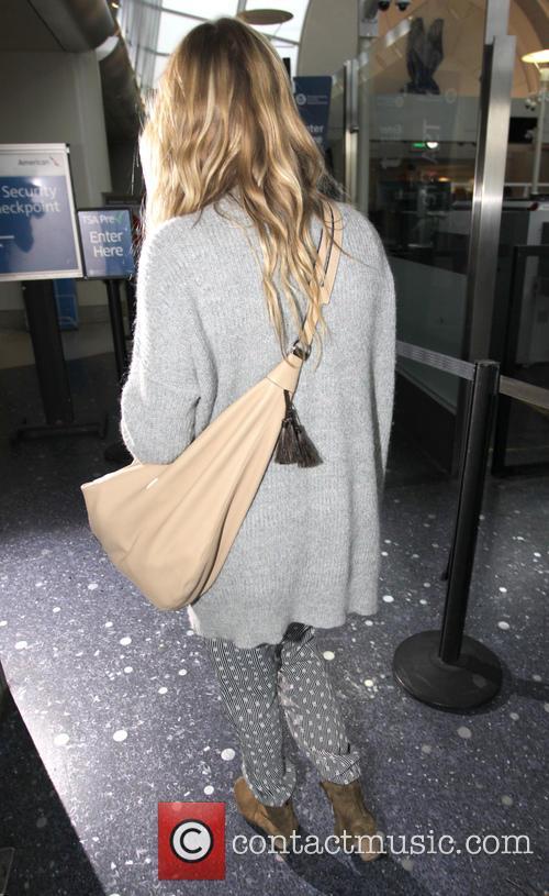 LeAnn Rimes departs from Los Angeles International Airport
