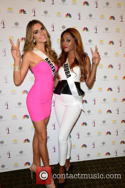 Miss Argentina Valentina Ferrer and Miss Aruba Digene Zimmerman 8