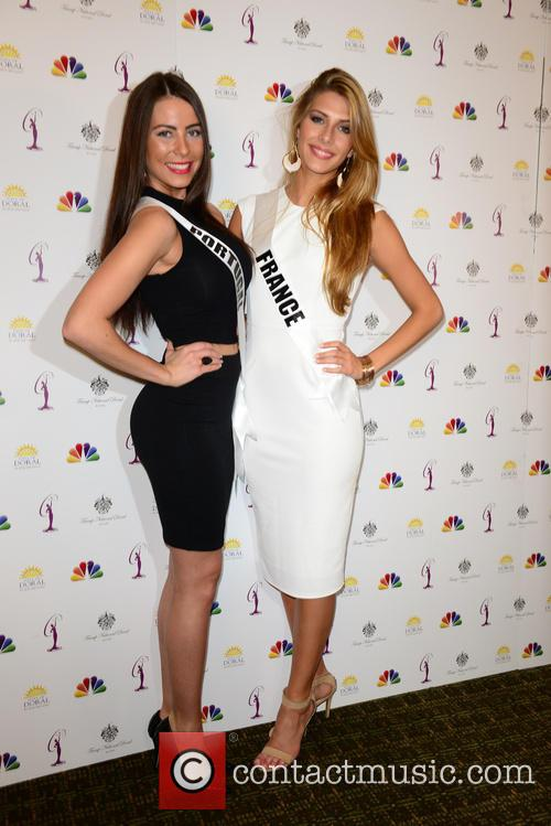 Miss Portugal Patricia Da Silva and Miss France Camille Cerf 2
