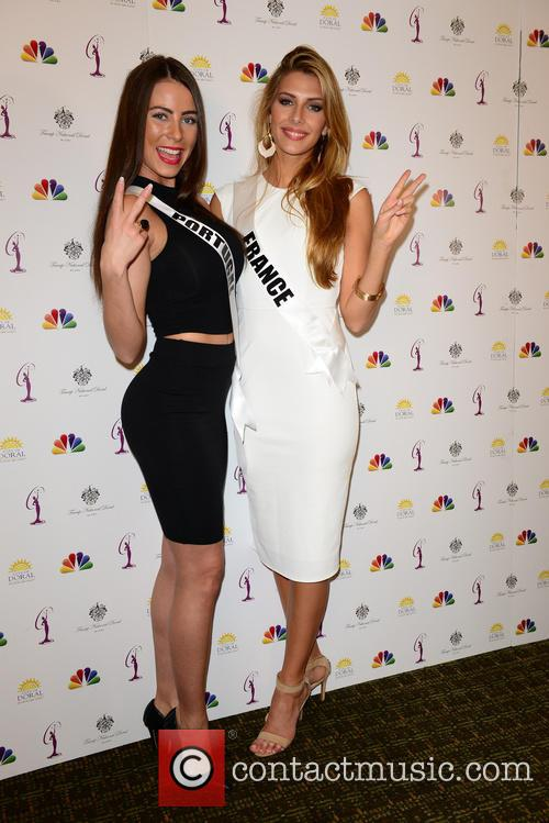 Miss Portugal Patricia Da Silva and Miss France Camille Cerf 1