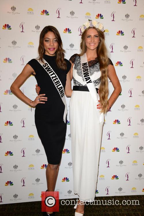 Miss Switzerland Zoe Metthez and Miss Norway Elise Dalby 2