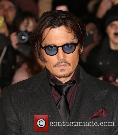 Johnny Depp at the Mortdecai premiere