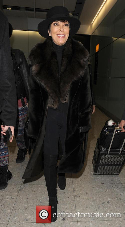 Kris Jenner arrives at Heathrow Airport