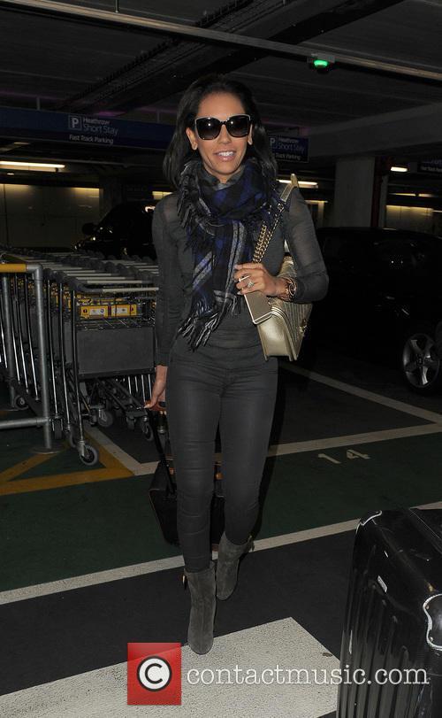 Mel B aka Melanie Brown arriving at Heathrow...