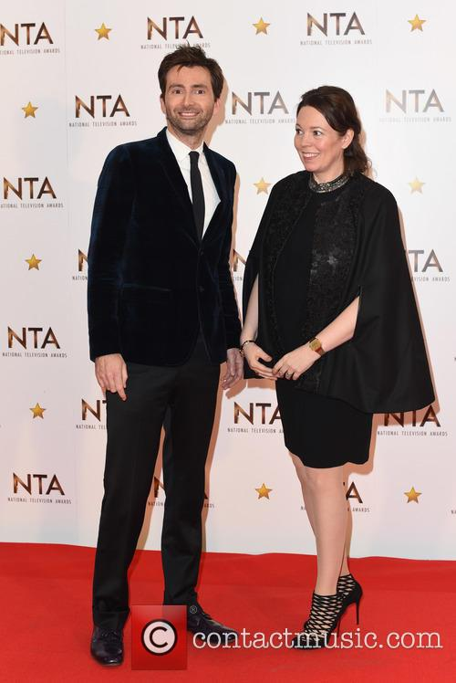 David Tennant and Olivia Colman