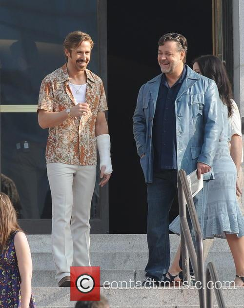 Ryan Gosling and Russell Crowe 1