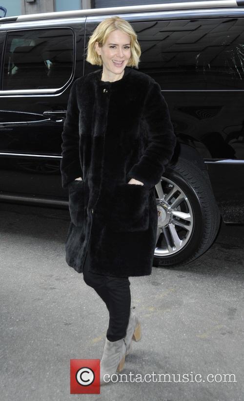 Sarah Paulson arrives at the 'Rachael Ray Show'...