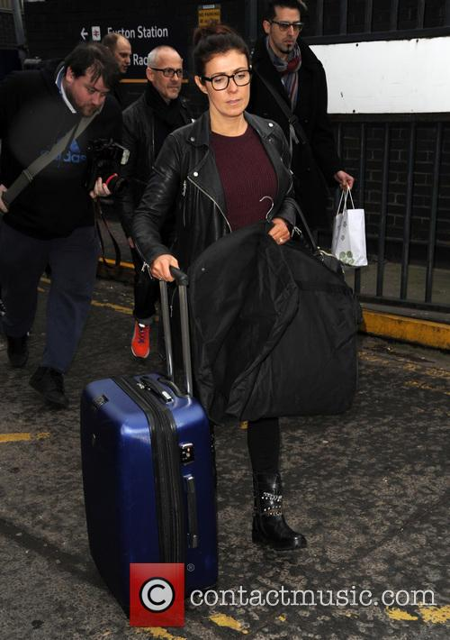 Celebrities arrive at Euston station for the NTA's