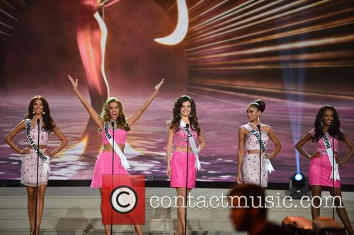 Miss Dominican Republic Kimberly Castillo, Miss Ecuador Alejandra Argudo, Miss Egypt Lara Debbane, Miss El Salvador Patricia Murillo and Miss Ethiopia Hiwot Mamo 1
