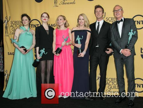 Andrea Riseborough, Emma Stone, Amy Ryan, Naomi Watts, Edward Norton and Michael Keaton 4
