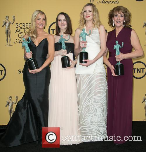 Joanne Froggatt, Sophie Mcshera, Laura Carmichael and Phyllis Logan 6