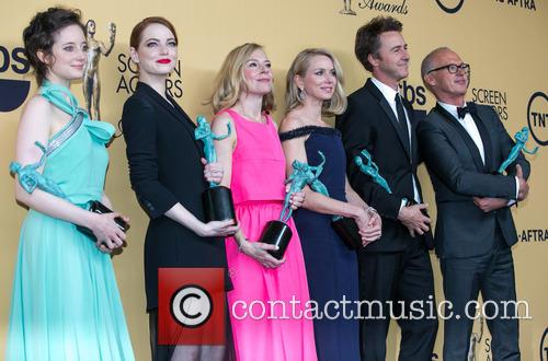 Andrea Riseborough, Emma Stone, Amy Ryan, Naomi Watts, Edward Norton and Michael Keaton 1