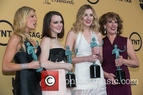 Joanne Froggatt, Sophie Mcshera, Laura Carmichael and Phyllis Logan 8