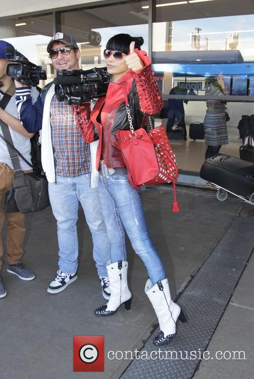 Bai Ling departs from Los Angeles International Airport