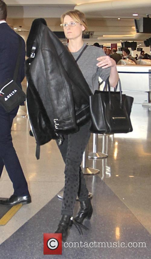 Mamie Gummer departs from Los Angeles International Airport