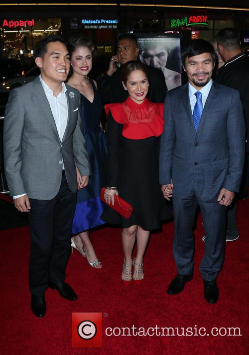 Ryan Moore, Jinkee Pacquiao and Manny Pacquiao 2