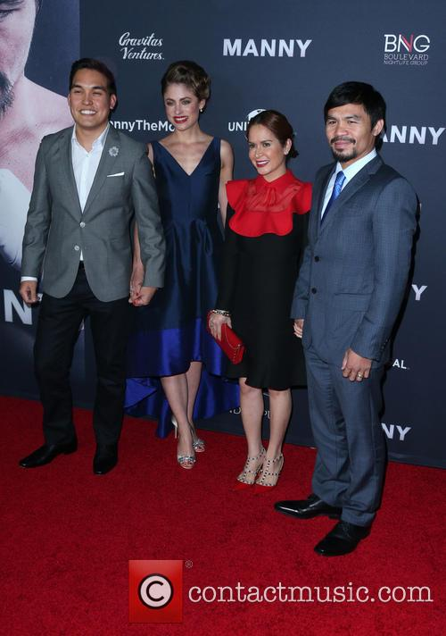 Ryan Moore, Jinkee Pacquiao and Manny Pacquiao 3