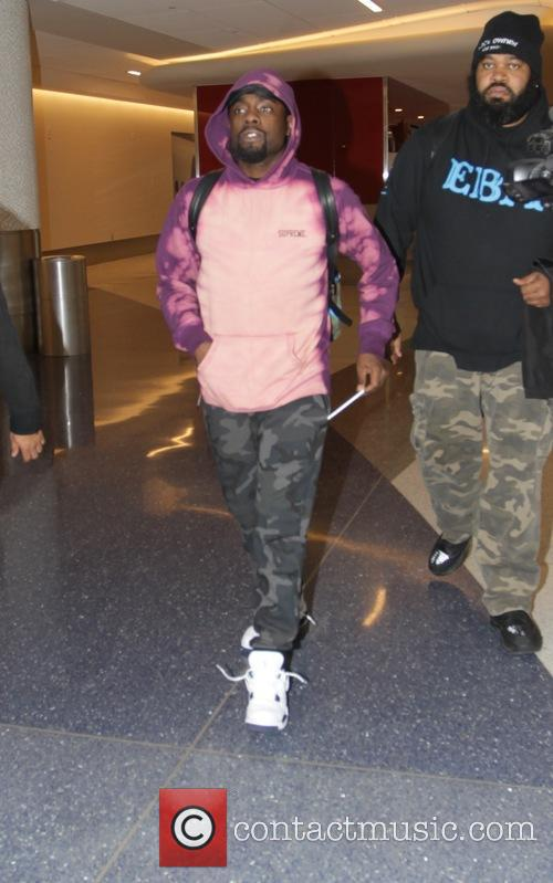 Wale departs from Los Angeles International Airport