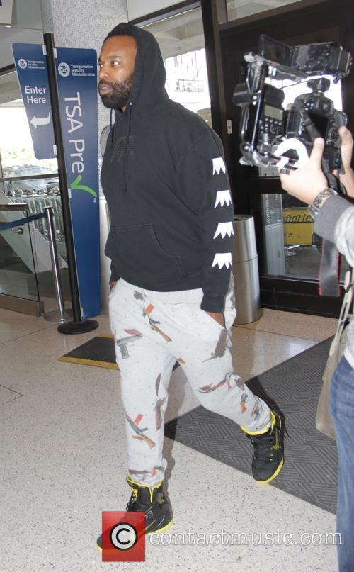 Baron Davis arriving at Los Angeles International Airport