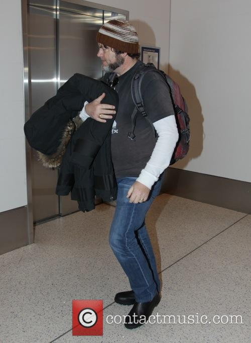 Nick Offerman at Los Angeles International Airport