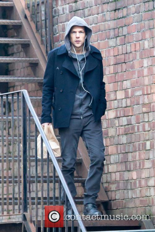 Jesse Eisenberg films scenes for 'Now You See...