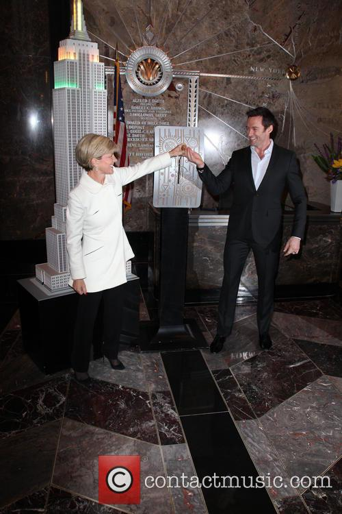 Hugh Jackman and Julie Bishop