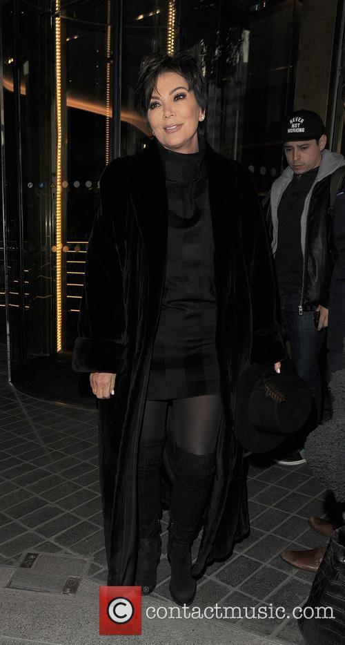 Kris Jenner arriving at St Pancras