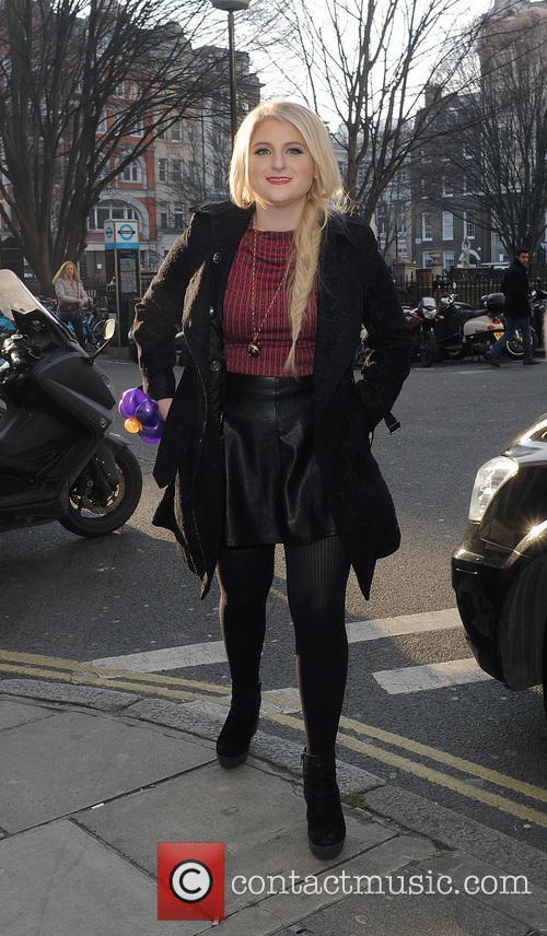 Meghan Trainor leaving the Radio 2 studios