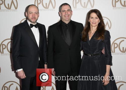 Gareth Neame, Nigel Marchant and Deborah Oppenheimer