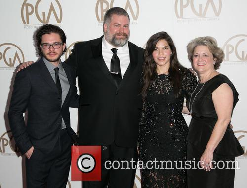 Kit Harrington, Dean Deblois, America Ferrera and Bonnie Arnold 7