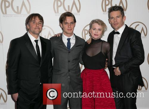 Richard Linklater, Ellar Coltrane, Cathleen Sutherland and Ethan Hawke 3