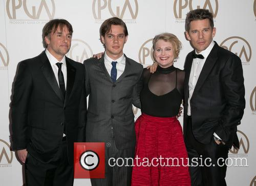 Richard Linklater, Ellar Coltrane, Cathleen Sutherland and Ethan Hawke 1