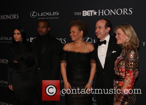 Kim Kardashian, Kanye West, Philippe Dauman Debra Lee and Deborah Dauman 2
