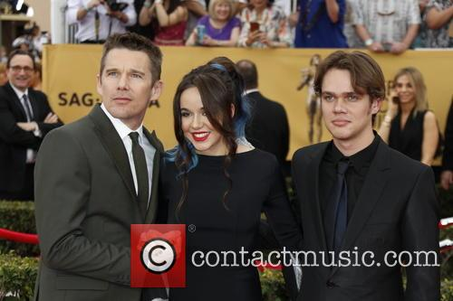 Ethan Hawke, Lorelei Linklater and Ellar Coltrane 2