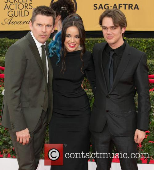 Ethan Hawke, Lorelei Linklater and Ellar Coltrane 4