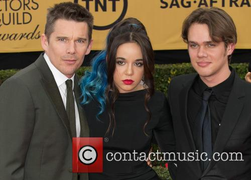 Ethan Hawke, Lorelei Linklater and Ellar Coltrane 6