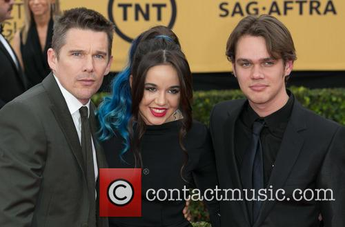 Ethan Hawke, Lorelei Linklater and Ellar Coltrane 7
