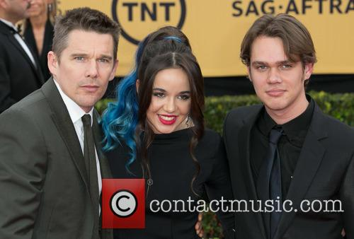 Ethan Hawke, Lorelei Linklater and Ellar Coltrane 1