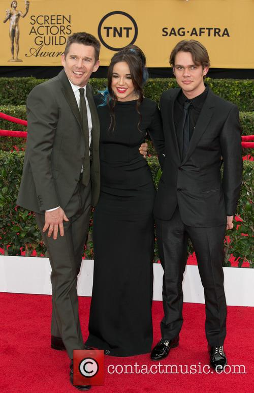 Ethan Hawke, Lorelei Linklater and Ellar Coltrane 10
