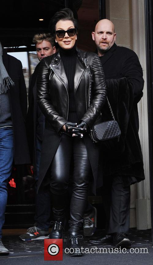 Kris Jenner out in Paris